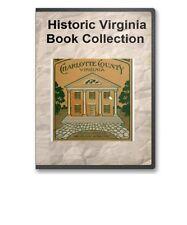 Virginia VA State County History Culture Family Tree Genealogy Book Set - B283
