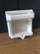 Lassco Vintage Ceramic Soap Holder Recessed -  18cm By 18cm