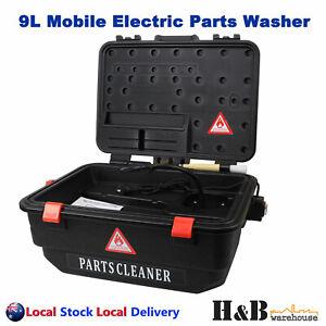 9L Mobile Portable Electric Parts Washer 240V Powered Pump Workshop Quality Sale