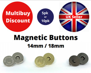 Magnetic Button Snaps Fasteners Clasps Handbag Bag Making Leathercraft 18mm 14mm