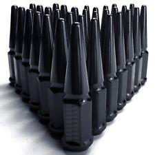 Extra Long Spike Lug Nuts 9/16-18 Acorn fit Chevy K20 K30 Truck Suburban Black