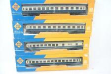 4 x ROCO HO gauge DB CORRIDOR COACHES - BLUE/CREAM - 4256/57/58/88 BOXED,      z