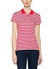 Brand New W Tags Tommy Hilfiger New Chiara Polo Fiery Red/ White Size XS