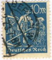 ALLEMAGNE / GERMANY / DEUTSCHLAND - 1923 - Mi.239 10 Mk Blue - VFU BERLIN W