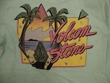 Volcom Stone Skating Snowboarding Apparel Logo Light Blue T Shirt S