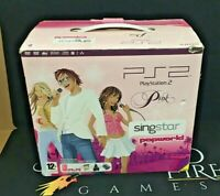 Sony Playstation 2 PS2 Pink Slim Console - Boxed Singstar Popworld Edition - PAL