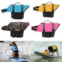 Pet Dog Cat Saver Life Jacket Vest Coat Aquatic Reflective Preserver Float Cloth