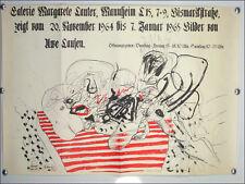 """Ausstellungs Plakat """"Bilder von Uwe Lausen"""" Mannheim 1964 Künstler Plakat 60er"""