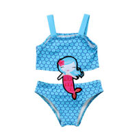 NWT Girls Mermaid Blue Swimsuit One Piece Bathing Suit 2T 3T 4T 5T