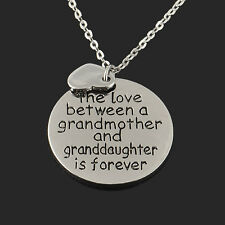 Fashion Love grandmother/daught forever pendant necklace chain Statement Jewelry
