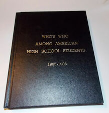 Who's Who among American High School Students, 1985-1986 (1986, Other)