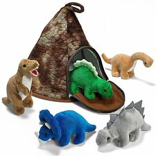 Dinosaur Volcano House with 5 Plush Dinosaurs Great Christmas Gift For Kids