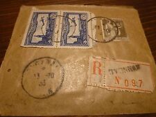 Flamme timbre poste aérienne  1f50 x2 - type paix olive 1f25 - années 30