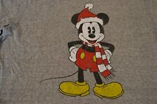 Disney Santa Mickey Mouse Christmas Faded T-Shirt Men's Size: X-Large New W/ Tag