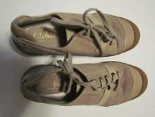 Cole Haan Waterproof Tan Suede Canvas Toe Patent Lace Oxford 065M