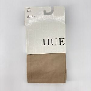 HUE Taupe Tights Solid Medium #13013 Cotton Nylon Spandex