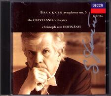 Christoph von DOHNANYI Signiert BRUCKNER Symphony No.5 Nowak DECCA CD Autograph
