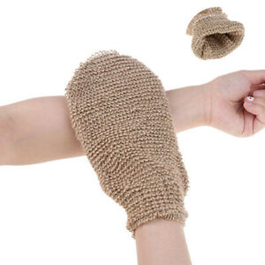 Scrubber Exfoliating Bath Sponge Glove Mitten Deep Clean Remove Dead Skin Hemp