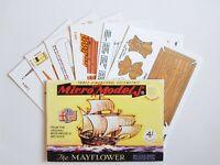 Micromodels Set No. 1 The Mayflower English Galleon Micro New Models card kit