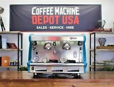 WEGA VELA  2 GROUP High Cup in Teal Blue COMMERCIAL ESPRESSO COFFEE MACHINE
