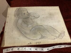 Antique - drawing of a baby - old master (?)