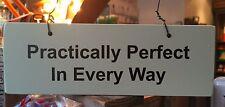 Porte en bois jardin SIGNE: * MARY POPPINS Citer pratiquement PARFAIT * - Nouveau