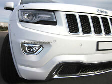2 Chrome Front Foglight Fog Light Lamp Cover for Jeep Grand Cherokee 2014-2015