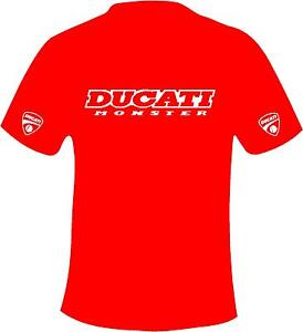 Ducati Monster Style Motorcycle Printed T Shirt in 6 Sizes