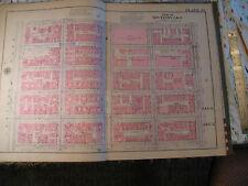 Original 1930 New York City Nyc Atlas Linen Map 95 - 100 3rd to 5th Yorkville