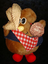 NESTLE CHOCOLATE Advertising MILKY Way PLUSH DOLL Mascot Kiss COWBOY Straw Hat