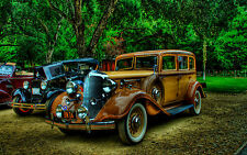 "Poster 24"" x 36"" Old Cars Vintage"