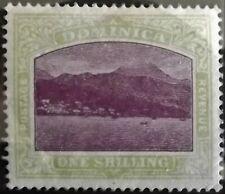DOMINICA KE VII 1903-07 1s MAGENTA & GY.-GREEN MINT HINGED S.G.33 VGC
