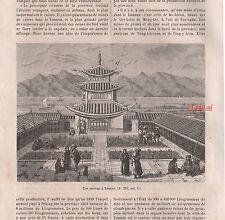 Doc.Ancien Le YUNNAN  Chine gravures  China engravings  1895 -2j