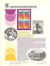 #179 20c Science & Industry #2035 USPS Commemorative Stamp Panel