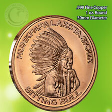 Lakota Sitting Bull Copper Round 1 oz .999 Copper Round