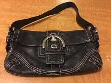 COACH Women's Black Premium Leather Handbag Purse #L05D-8A05 - 100% Authentic