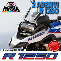ADESIVI STICKERS AUTOCOLLANT PER BMW GS R 1250 BLU ROSSO  ADVENTURE MOTO RALLY