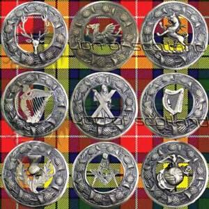 "Scottish Kilt Fly Plaid Brooch Various Antique/Highland Pin Brooches Celtic 3"""
