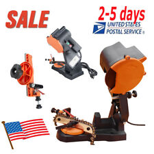<USA SALE>Electric Chain Saw Sharpener Bench Wall Vise Mount Grinder Chainsaw CE