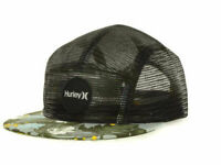 Hurley Cali Tropical Visor Black Mesh back 5 Panel Camper Racer Cap Hat