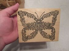 2000 WOOD MOUNTED RUBBER STAMP ME AND CARRIE LOU BUTTERFLY STAMP BRAND NEW