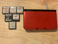 Red Nintendo 3DS XL Handheld Console (PAL) With 5 Games