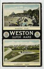 (w10q53-100) Dual View of WESTON-SUPER-MARE 1916 Used G-VG