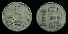 Netherlands - 1 Cent 1941 zink ~ Zeer Fraai