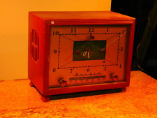 "Art Deco 1953 Wooden ""The Marion"" Bendix Radio 5-Tube Clock/ AM Radio Receiver"