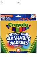 Lot Of 2! Crayola Ultra Clean Broad Line Markers, Bold Washable 10 Count