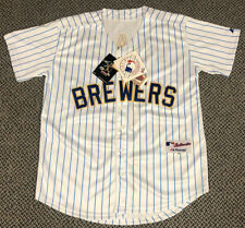 Ryan Braun Milwaukee Brewers Retro Pinstripes Majestic Jersey Size 50 NWT