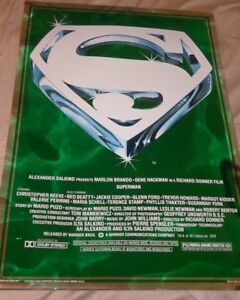 "Movie Poster Superman the Movie 1978 Mylar S LOGO 21"" x 30"" Christopher Reeve"