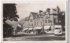 Cumbria; Market Cross, Ambleside RP PPC, Local 1954 PMK W Local Bus to Hawkshead