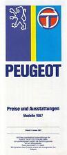PEUGEOT 205 GTI 1.6 1.9 CABRIOLET CT CTI 305 505 tarif ausstatttungen 1987 39